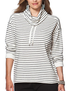Chaps Plus-size Striped Pullover Top