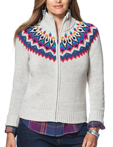 Chaps Plus-size Fairisle Sweater