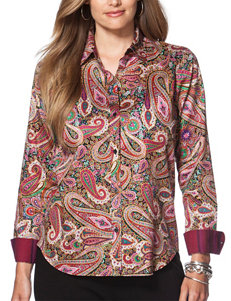 Chaps Plus-size Paisley Sateen Top