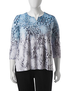 Alfred Dunner Plus-size Ombre Animal Print Top