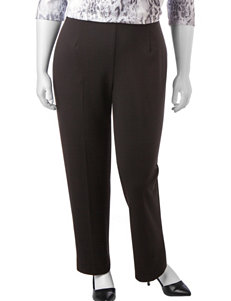 Alfred Dunner Plus-size Proportioned Medium Length Pants