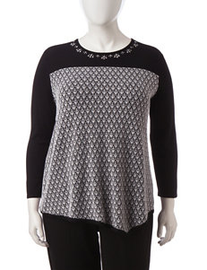 Alfred Dunner Plus-size Lace Sweater