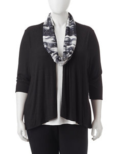 Rebecca Malone Plus-size 2-pc. Scarf & Layered-Look Knit Top Set