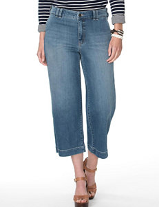 Chaps Plus-size Oceanside Wash Capri Pants