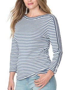 Chaps Plus-size Striped Knit Top