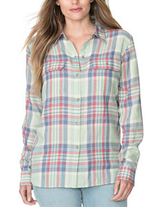 Chaps Plus-size Twill Windsor Plaid Top