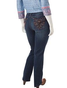 Earl Jean Plus-size Fleur De Lis Bootcut Jeans