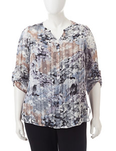 Rebecca Malone Plus-size Abstract Print Tunic Top