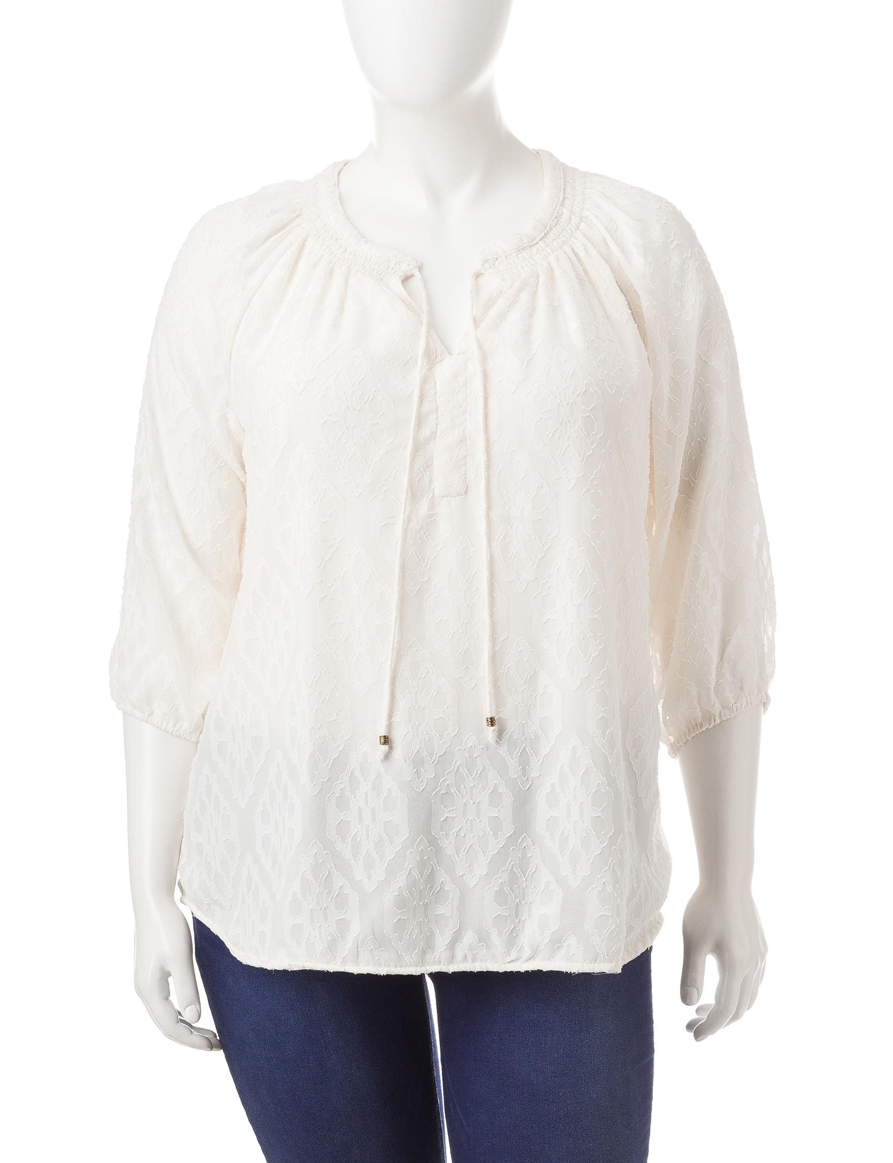 Rebecca Malone Beige Shirts & Blouses