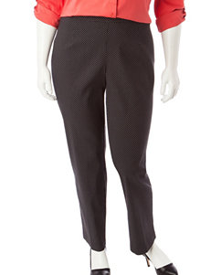 Briggs New York Plus-size Polka Dot Millennium Pant