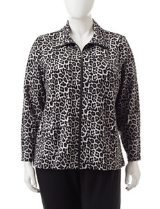 Cathy Daniels Plus-size Animal Print Sweater