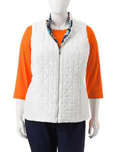 Ruby Road Plus-size Reversible Quilted Vest