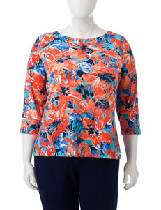 Ruby Road Plus-size Floral Print Top