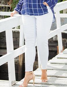 Signature Studio Plus-size Double Button High Rise Skinny Jean