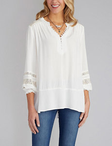 Democracy Plus-size Lace Detail Blouse