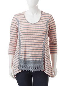 Signature Studio Pink / Grey Shirts & Blouses