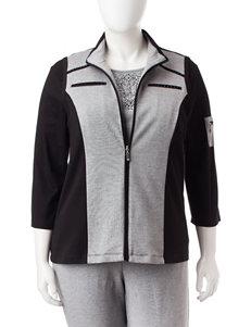 Alfred Dunner Plus-size Color Block Zip Vest