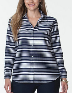 Chaps Navy Shirts & Blouses