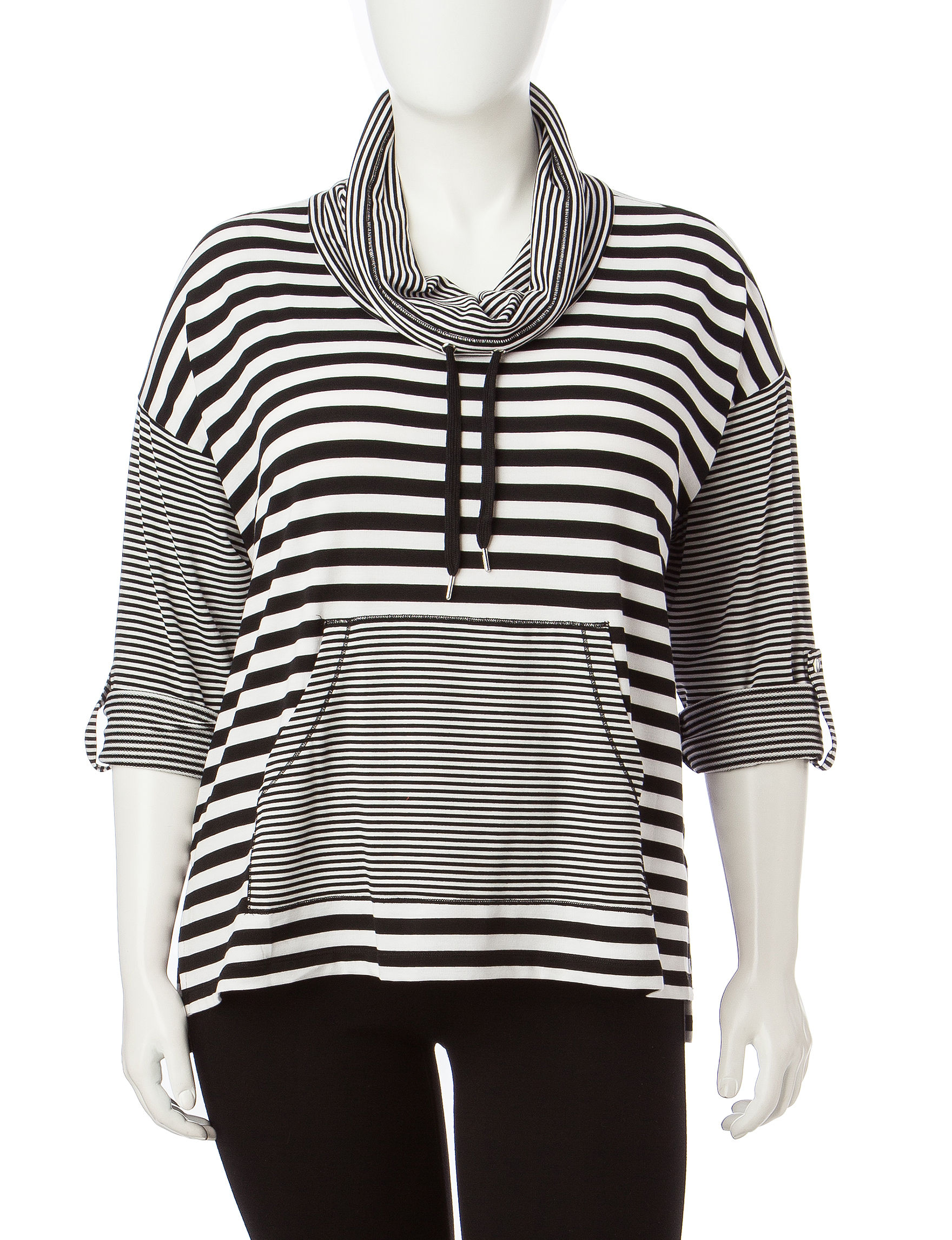 Ruby Road Black / White Shirts & Blouses