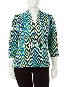 Ruby Road Plus-size Rhinestone Accented Top