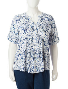 Cathy Daniels Plus-size Pin Tuck Top