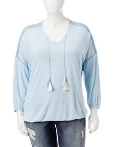 Hannah Plus-size Double Tassel Knit Top