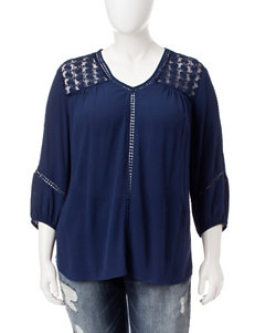 Hannah Plus-size Lace Inset Top