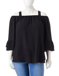 Valerie Stevens Plus-size Off-the-Shoulder Top