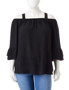 Valerie Stevens Black Shirts & Blouses