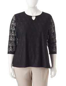 Cathy Daniels Plus-size Lace Top