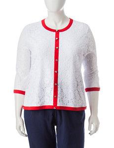 Cathy Daniels Plus-size Lace Top