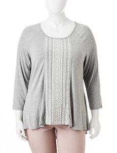 Hannah Plus-size Lace Front Top