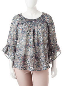 Hannah Plus-size Smocked Top
