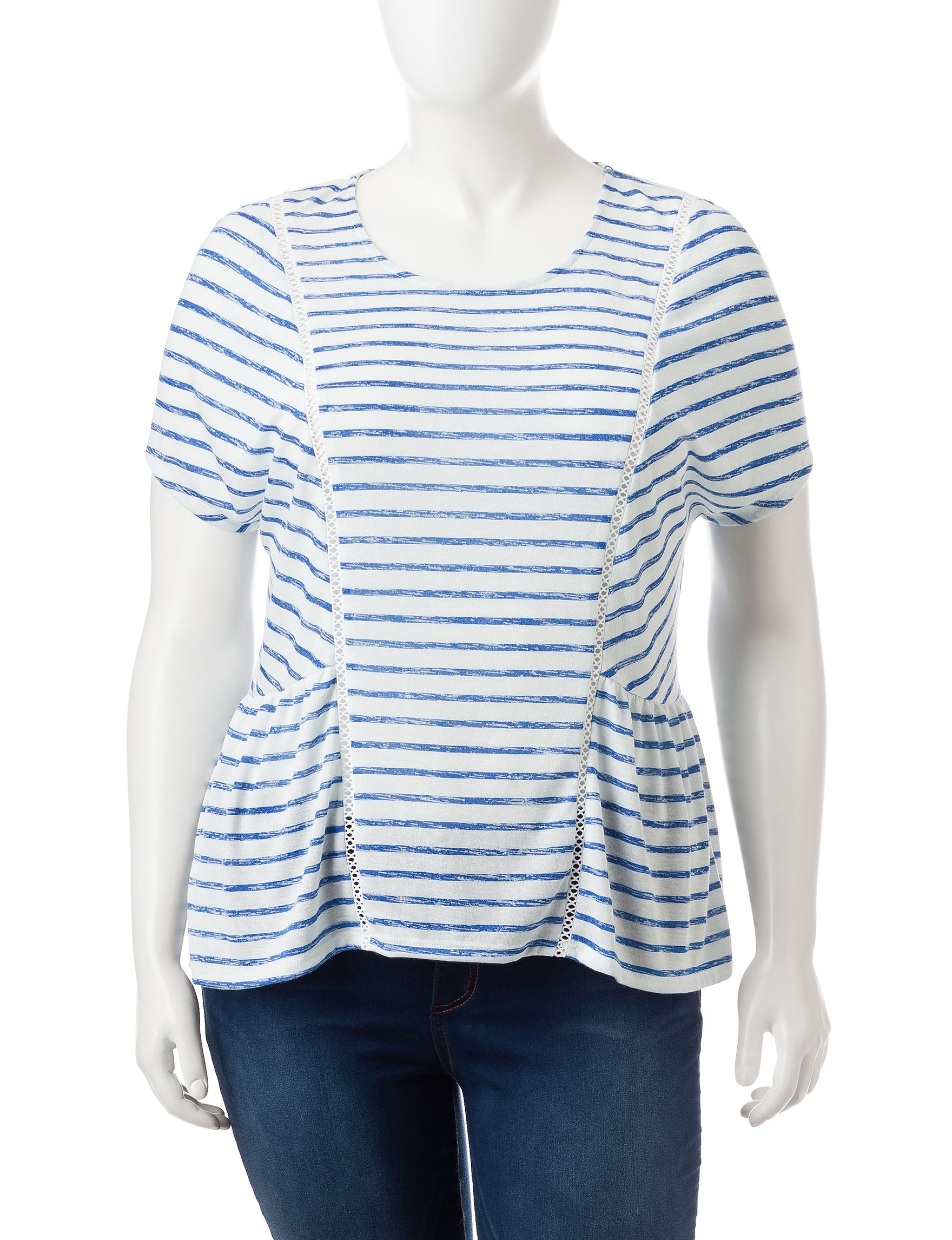 Hannah Medium Blue Shirts & Blouses Tees & Tanks