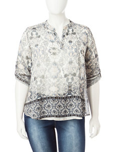 Energe Plus-size Woven Top