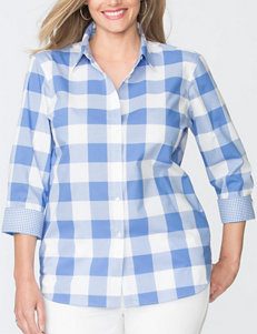 Chaps Blue / White Shirts & Blouses
