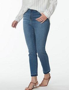 Chaps Plus-size Slim Ankle Length Denim Pants