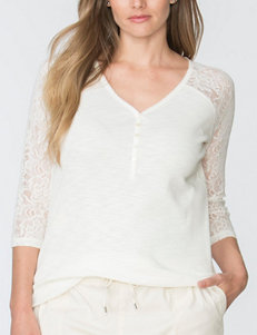 Chaps Plus-size Henley Knit Top