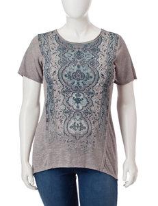 Signature Studio Grey Multi Shirts & Blouses