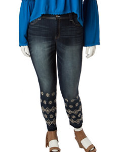 Signature Studio Plus-size Embroidered Cropped Ankle Length Jeans