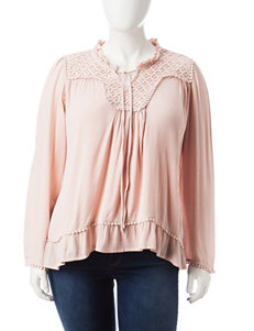 Signature Studio Plus-size Crochet Accent Top