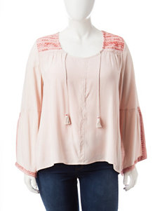 Signature Studio Plus-size Embroidered Top