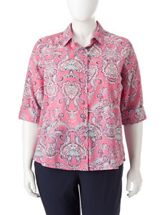 Rebecca Malone Plus-size Button Front Top