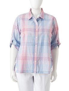 Rebecca Malone Blue Combo Shirts & Blouses
