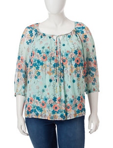 Sara Michelle Plus-size Trapeze Top