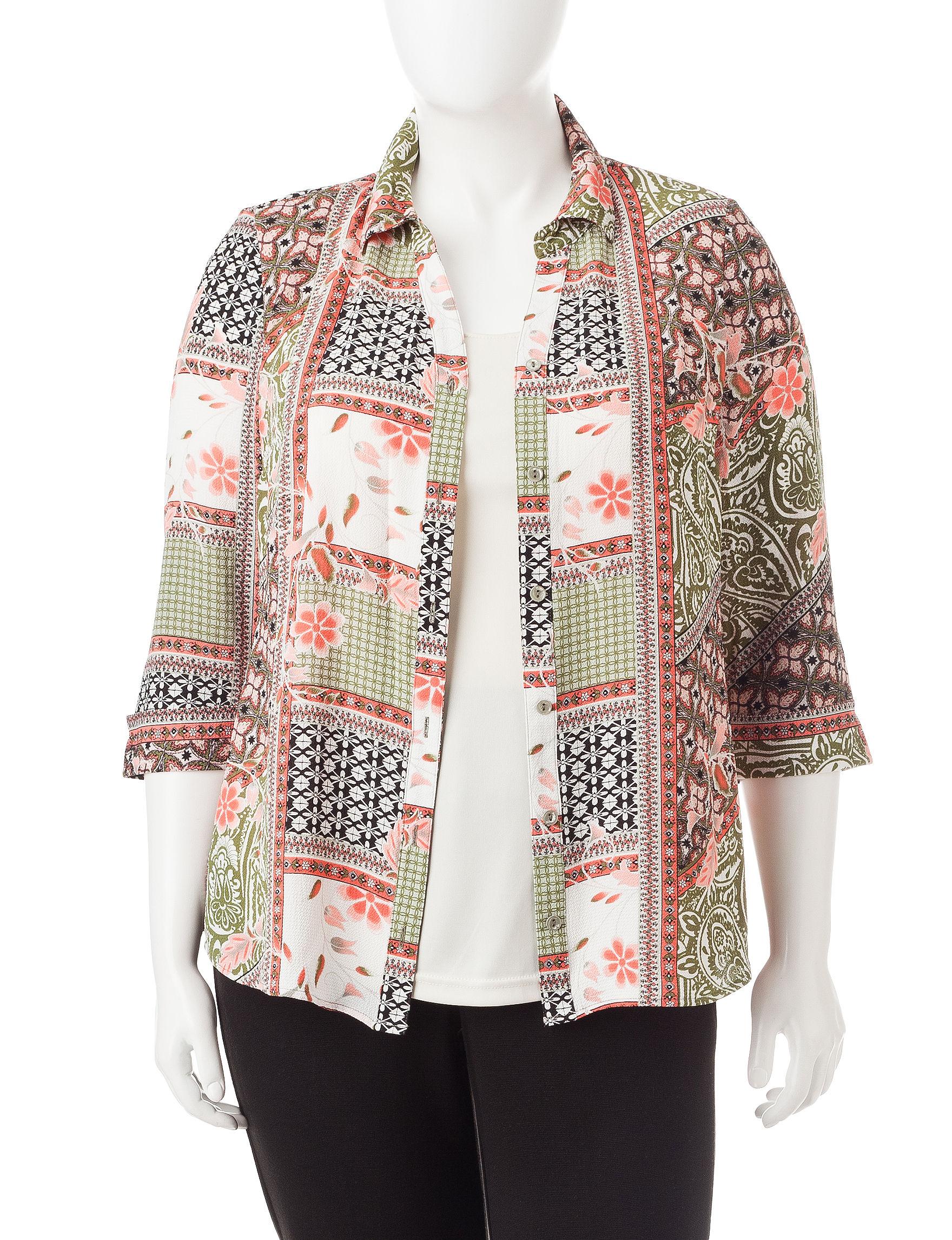 Sara Michelle Green Shirts & Blouses