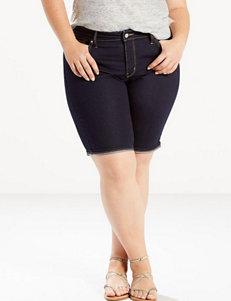 Levi's Dark Blue Denim Shorts