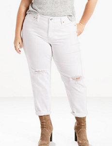 Levi's Plus-size White Storm Boyfriend Jeans