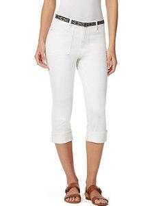 Gloria Vanderbilt Plus-size Patty Belted Capri Pants
