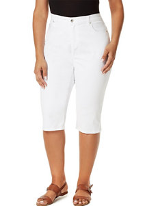 Gloria Vanderbilt Plus-size Amanda Embroidered Skimmer Capris